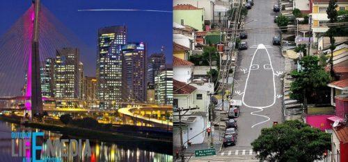 История наружных носителей в Сан-Пауло